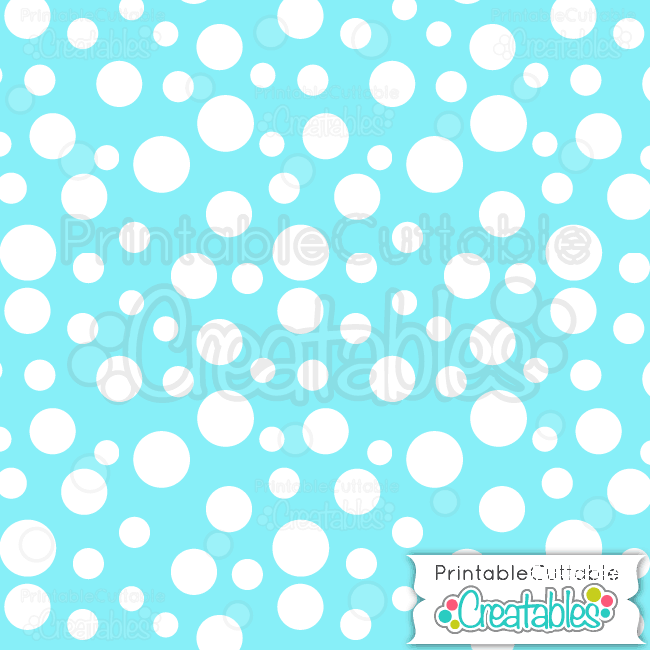 Ice Blue Tossed Dots Free Digital Paper Printable Pattern