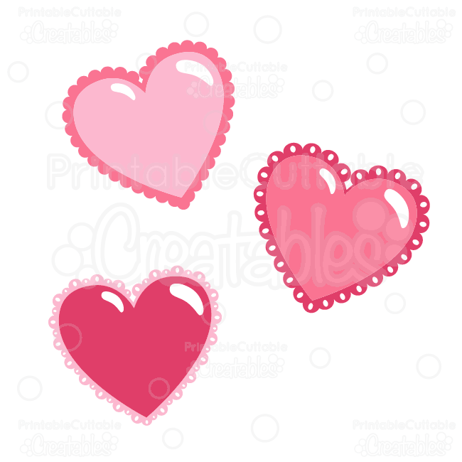Valentine\'s Day Hearts Free SVG Cut Files & Clipart