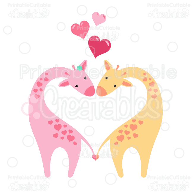 Valentines-Love-Giraffes-Clipart-SVG-Cut-Files
