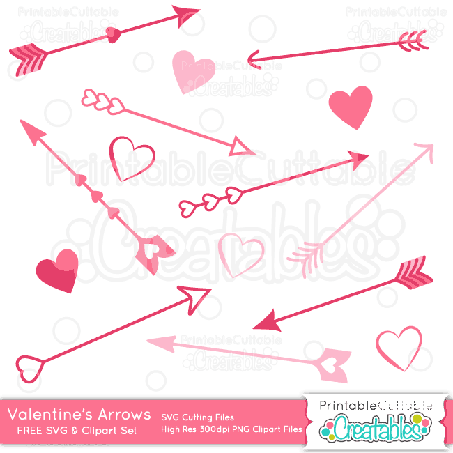 Valentines-Arrows-Free-SVG-Cut-Files-Clipart-Set