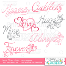 Love-Flourishes-Sentiments-SVG-Cut Files-Clipart