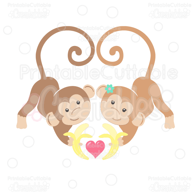 Valentines Love-Monkeys-SVG-Cut-File-Clipart