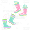 Rainy-Day-Rain Boots-Clipart-SVG-Cut-File