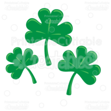 St-Patricks-Day-Shamrocks-SVG-Cut-Files-Free-Clipart