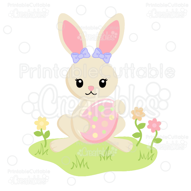 Cute-Girl-Bunny-with-Easter-Egg-SVG-Cut-File-Clipart