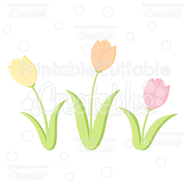 Spring-Tulips-Free-SVG-Cutting-Files-Free-Clipart