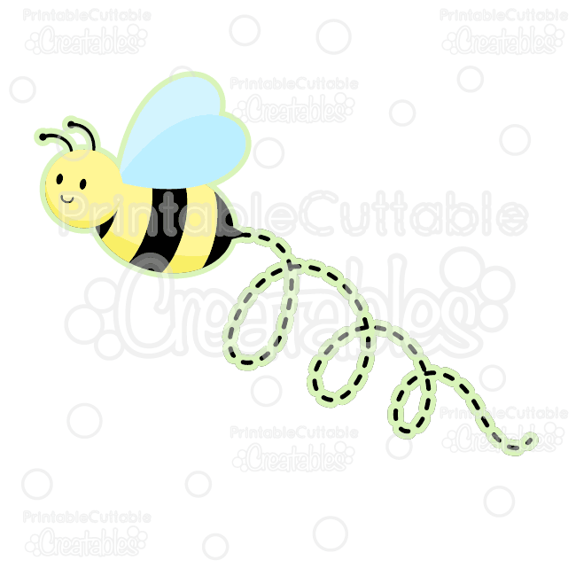 Cute Bumble Bee Free SVG Cut Files  Clipart