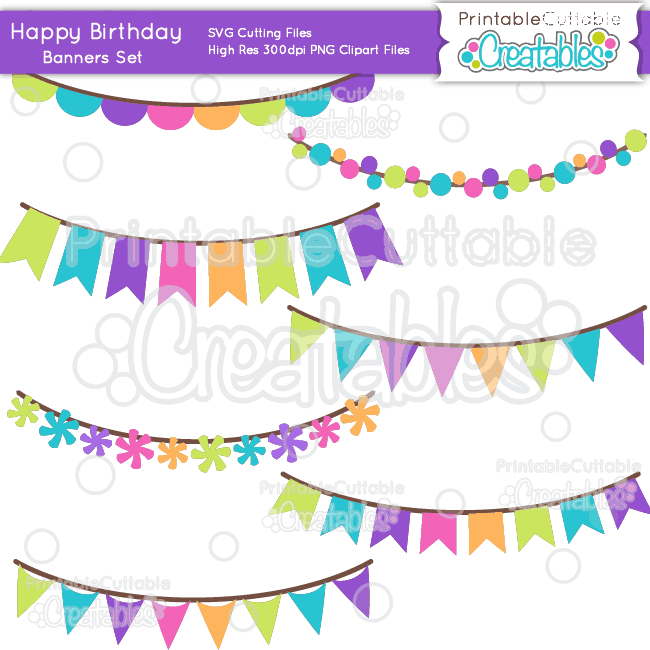 Free printable border designs for paper - Happy Birthday Svg Scrap Kit