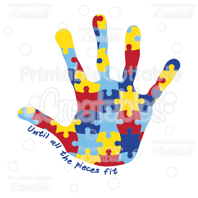 autism awareness puzzle handprint svg cut files clipart rh printablecuttablecreatables com autism clip art free autism clipart bathroom routine