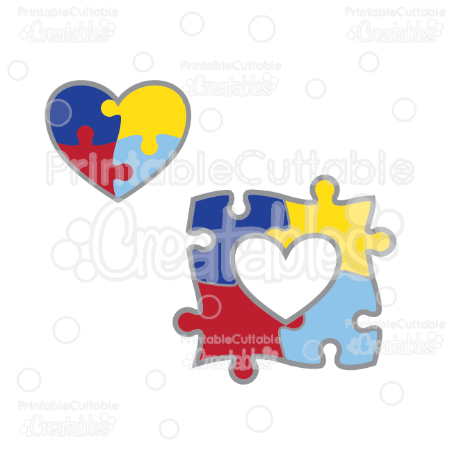 autism awareness puzzle free svg cut files clipart