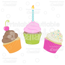 Birthday-Cupcakes-SVG-Cut-Files-Clipart