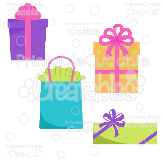 E123 Birthday Presents SVG Cutting Files Clipart preview