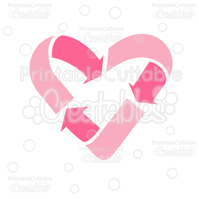 Recycle Heart Free Svg Cut File Clipart