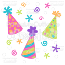 Birthday-Party-Hats-Free-SVG-Cut-File-Clipart