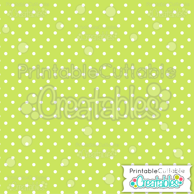 01 Green Polka Dots Seamless Pattern