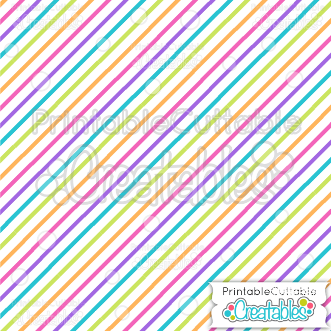 02 Birthday Thin Diagonal Stripe Digital Paper