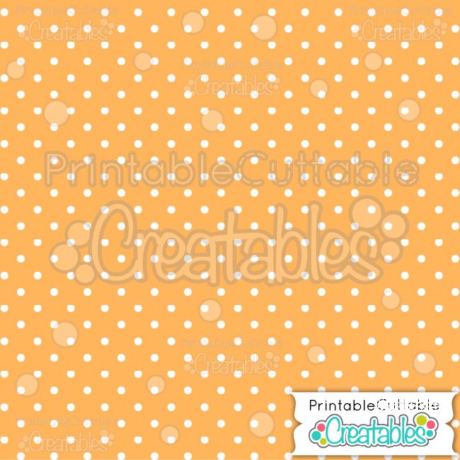02 Orange Polka Dots Digital Paper