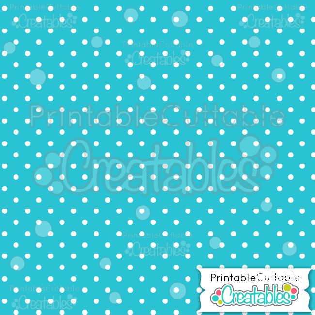 03 Blue Polka Dots Seamless Pattern