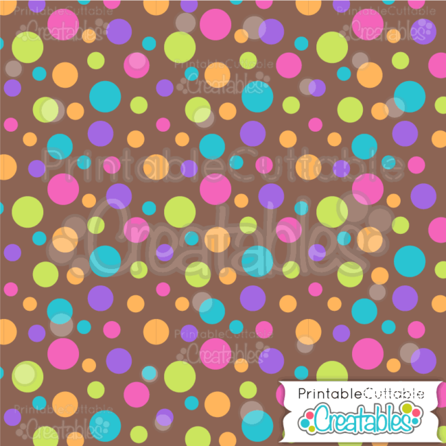 03 Large Tossed Dot on Brown Seamless Pattern