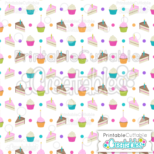 04 Cake Slices Cupcakes Digital Paper
