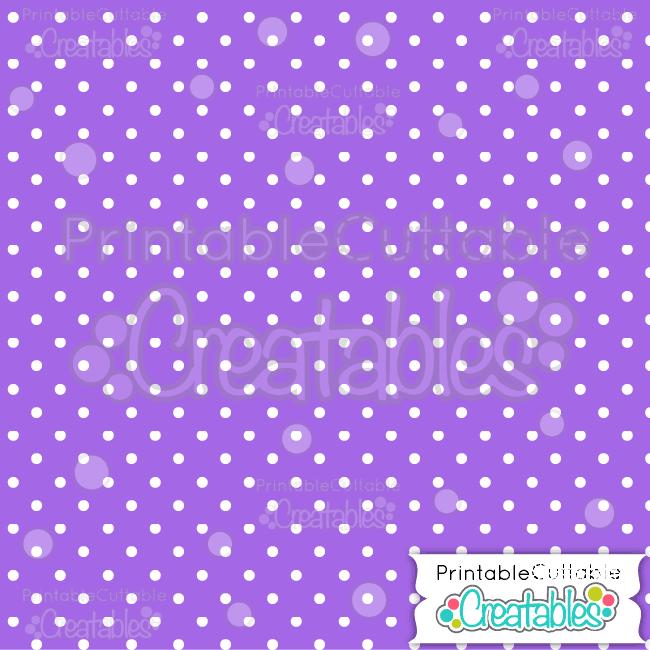 04 Purple Polka Dots Digital Paper