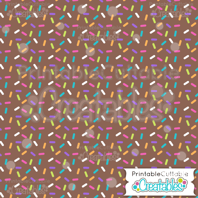 06 Birthday Sprinkles on Brown Digital Paper