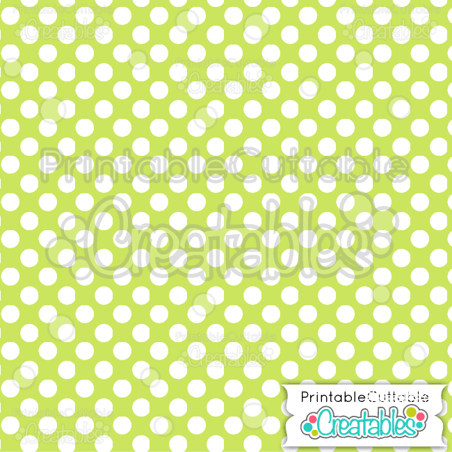 06 Green Large Polka Dots Digital Paper