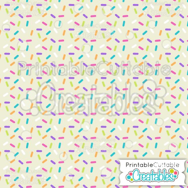 07 Birthday Sprinkles on Cream Digital Paper