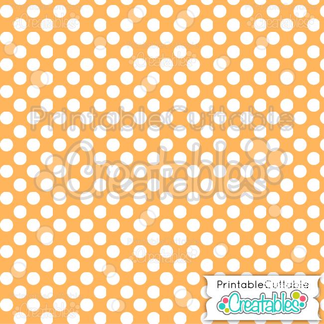 07 Orange Large Polka Dots Seamless Pattern
