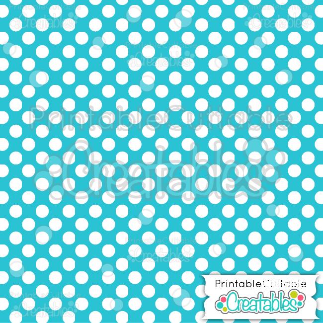 08 Blue Large Polka Dots Digital Paper