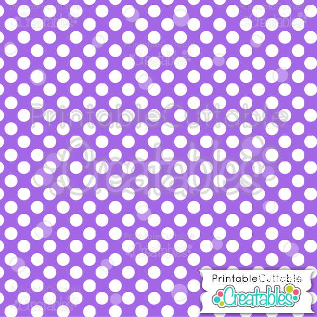 09 Purple Large Polka Dots Seamless Pattern