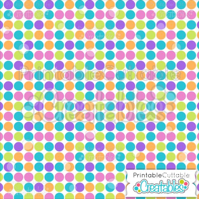 10 Large Dots on White Seamless Pattern