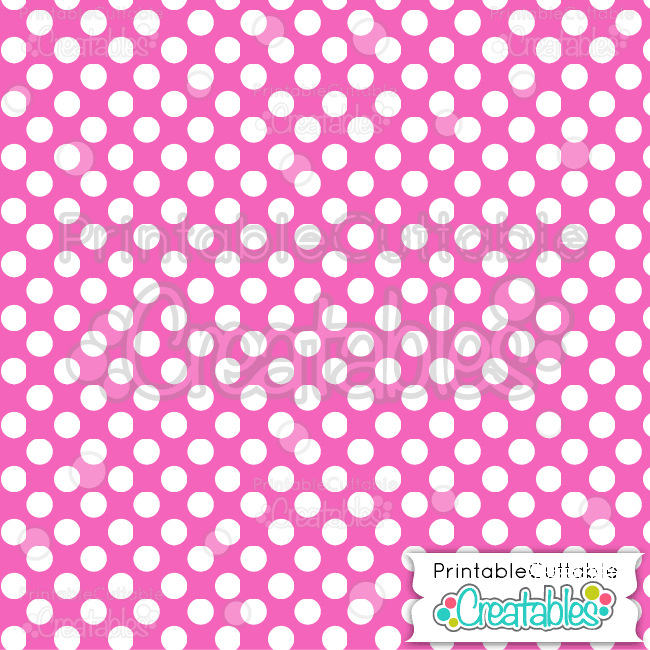 10 Pink Large Polka Dots Digital Paper