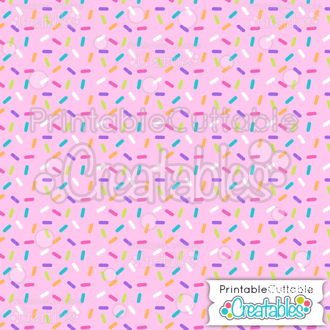 17 Birthday Sprinkles on Pink Digital Paper