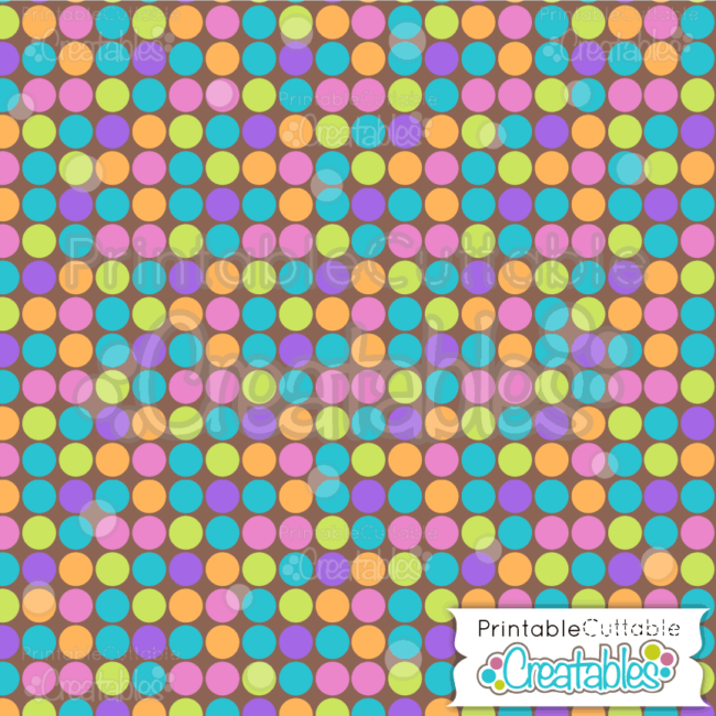 19 Large Dots on Browns Digital Paper