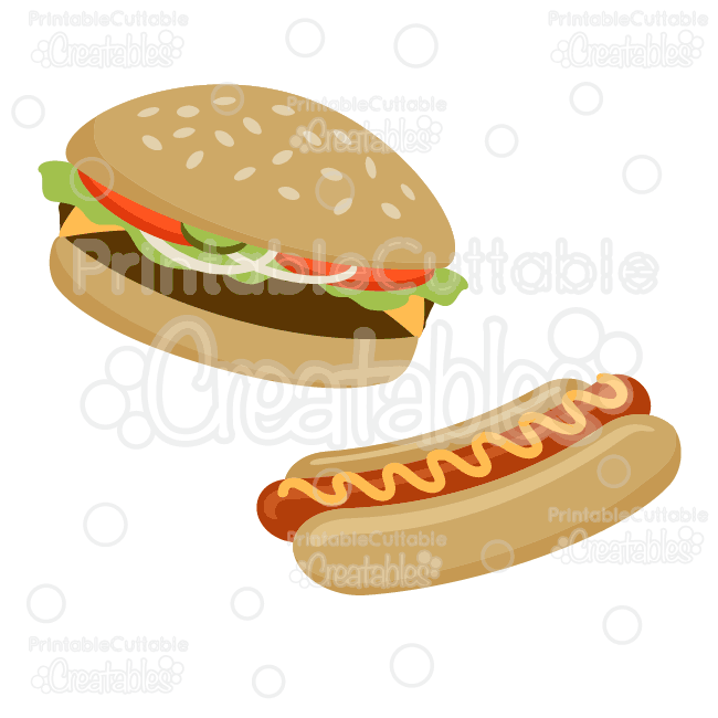 hamburger hot dog svg cut file clipart. Black Bedroom Furniture Sets. Home Design Ideas