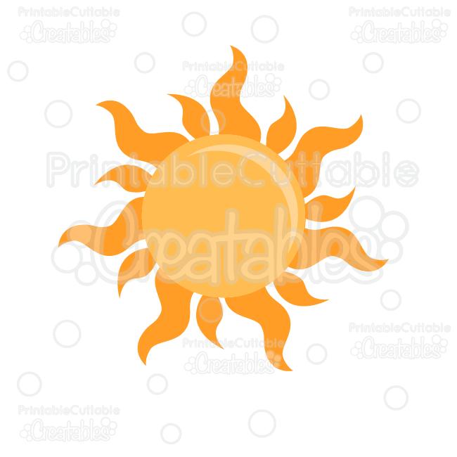 Summer Sun Free Svg Cutting File Clipart