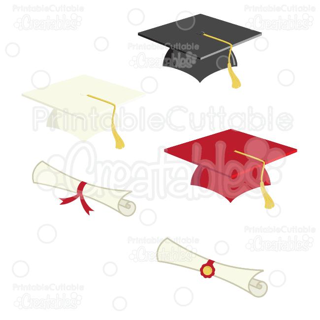 ES017 Graduation Caps SVG Clipart Preview