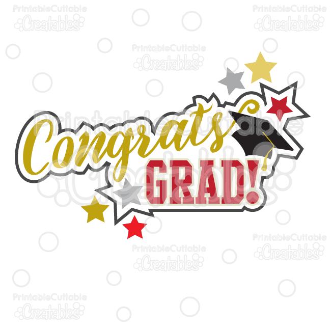congrats grad scrapbook title svg cut file clipart rh printablecuttablecreatables com congrats clipart free wedding congrats clipart