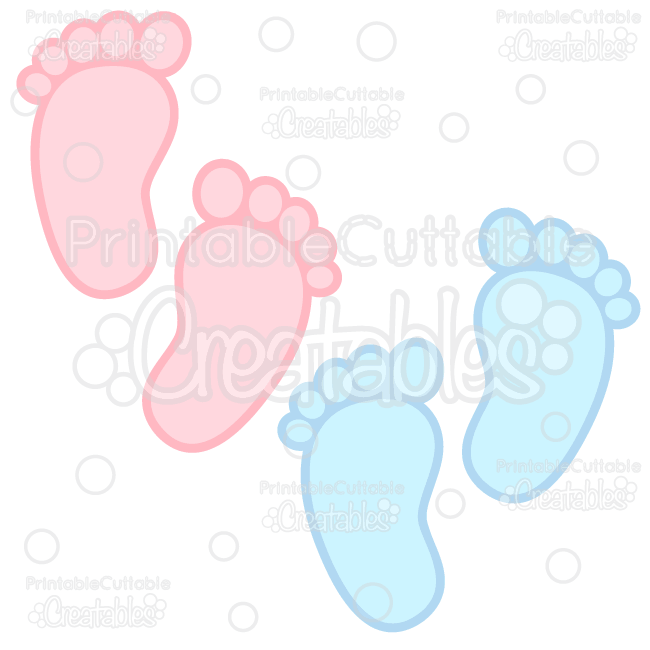 baby footprints free svg cuts clipart rh printablecuttablecreatables com blue baby footprints clipart baby footprint clipart images