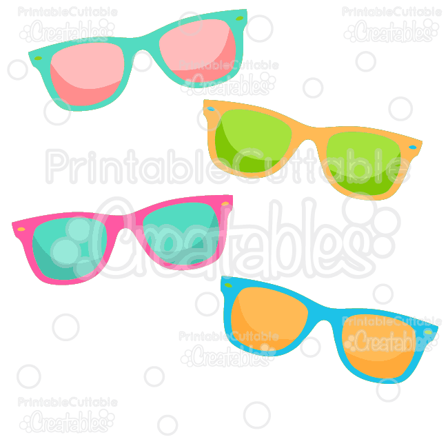 Summer Sunglasses Free SVG Cut File & Clipart