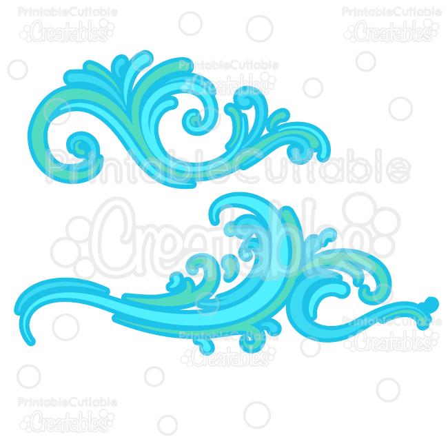 Ocean-Wave-Flourishes-SVG-Cut-Files-Clipart
