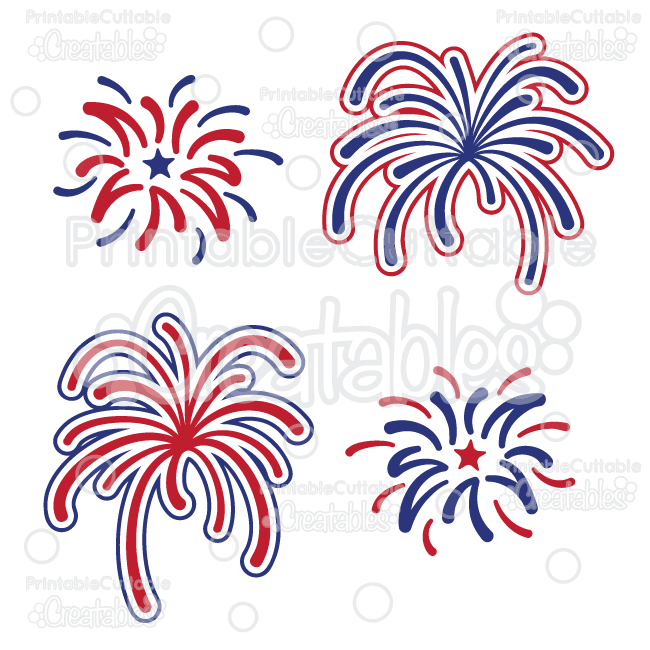 Fireworks Free SVG Cutting File & Clipart