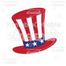 Uncle Sam Hat SVG Cut File & Clipart
