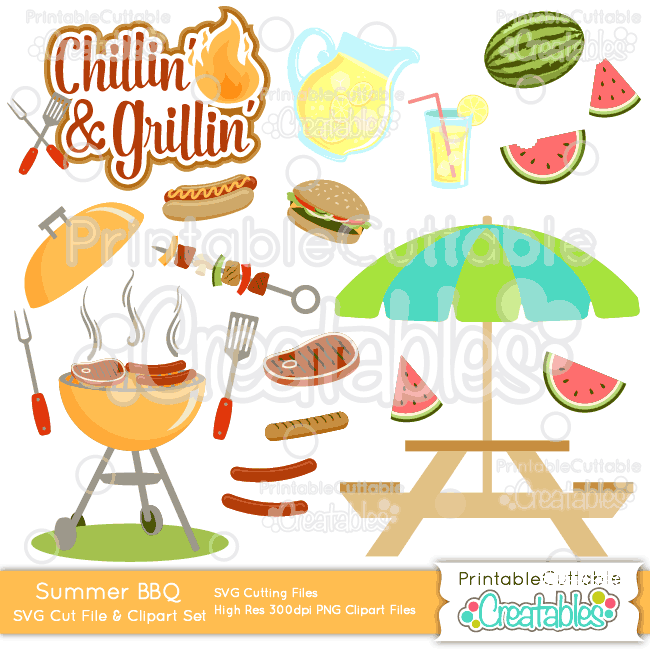 Summer BBQ SVG Bundle