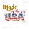Made in the USA Title SVG Cut File & Clipart