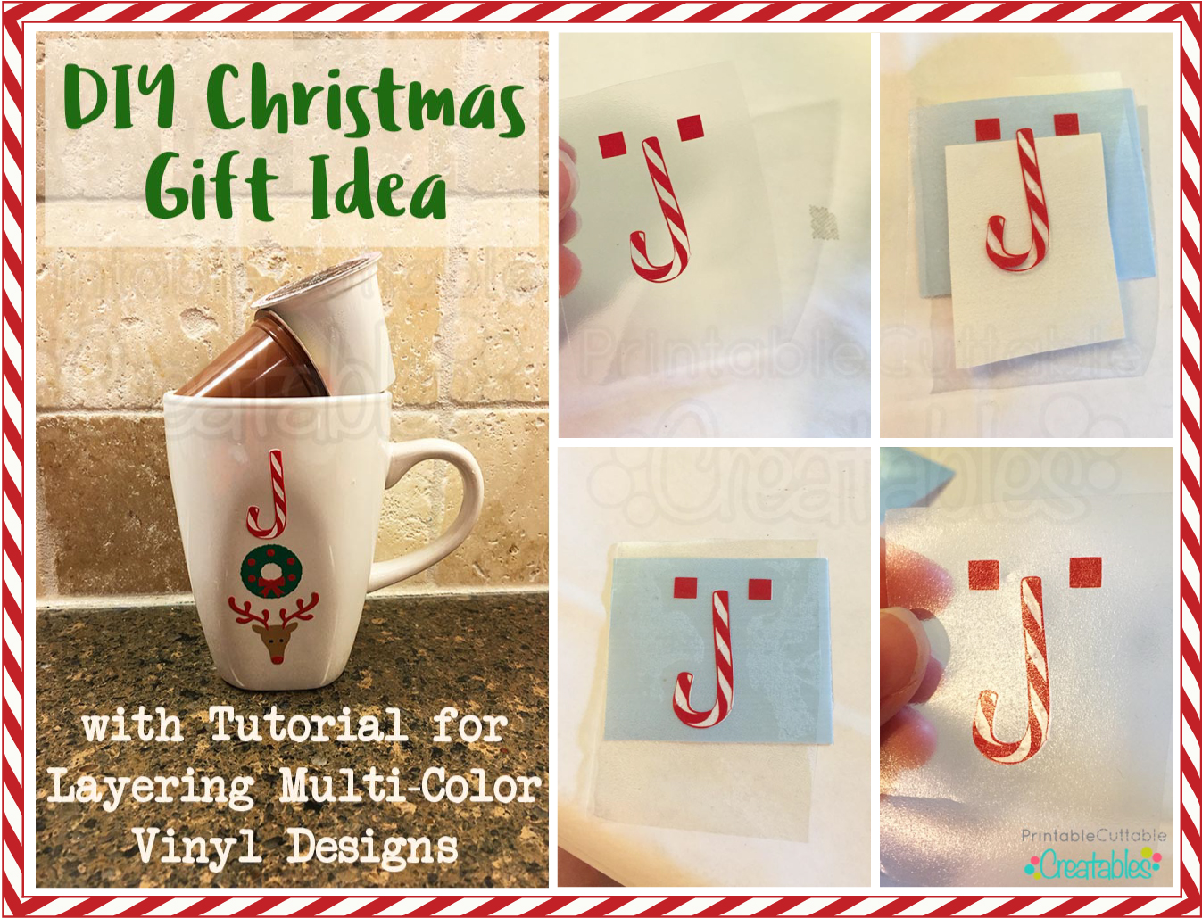 DIY Christmas Gift- How to Layer Vinyl Using Registration Marks