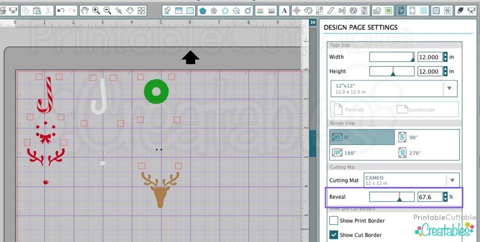Use Silhouette Studio Reveal feature