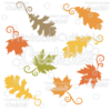 Fancy Swirls Autumn Leaves Free SVG Cutting Files & Clipart - SVG files for Silhouette Cameo, Cricut Explore cutting machines. Free Fall Leaves SVG