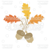 Fancy Swirls Autumn Acorn & Leaves SVG Cut File & Clipart